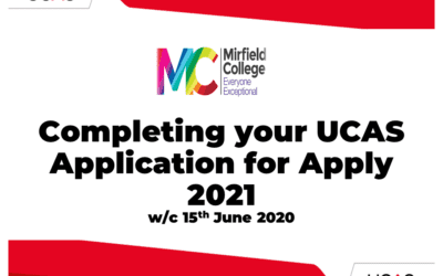 Completing your UCAS Application for Apply 2021